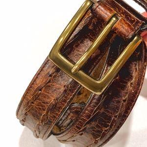 VINTAGE Brown Braided Belt 32/80